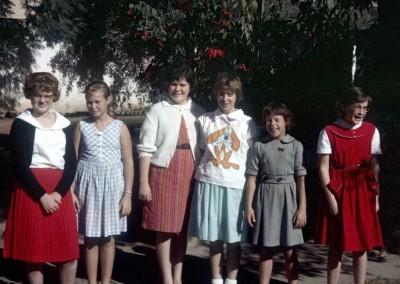 1963 Girl Scouts - Debbie Jamison?, Elizabeth Grupp, ?, Jo Johansen, Ann Meloy