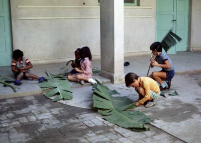 1972 Carolyn Pollock's Class with Banana Leaves
