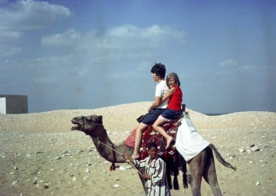 Janie Walters and ? on a camel