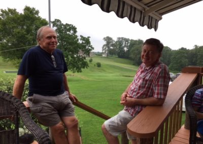 Back porch on the Butler farm - Ron Pollock on the left, Kenny Cooke on the right.