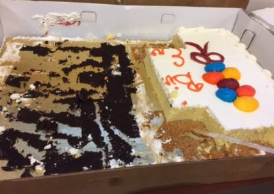 The cake purchased was appreciated by those who attended the meetings of the Niger Mission Network at the New Wilmington Mission Conference