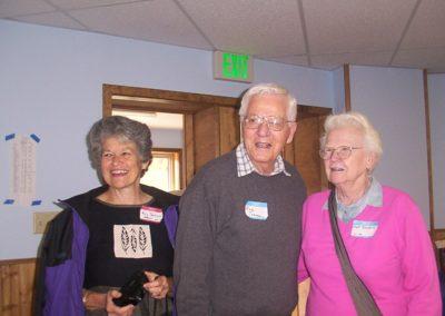 Mary Parkinson, Bob & Dot Turnbull.